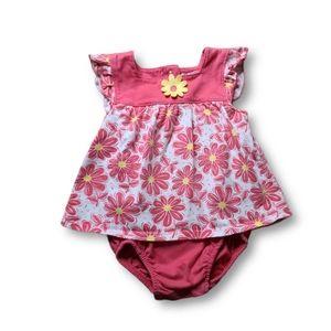 10/$20 Babies R Us Pink Flowered Dress Onesie
